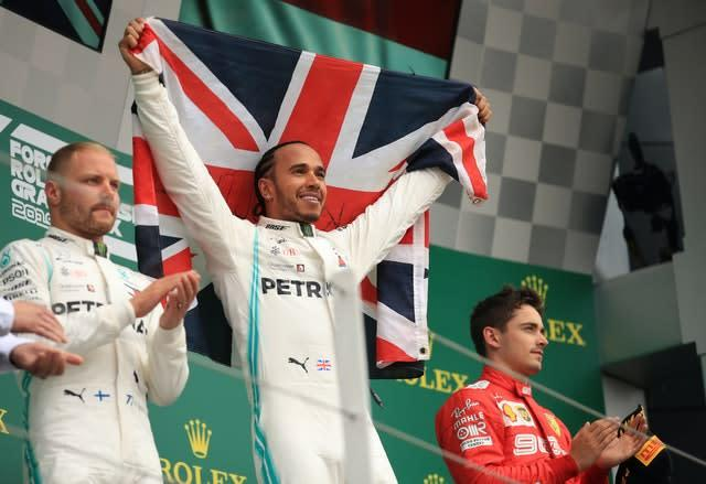 Formula One races this season will not end with the usual podium celebrations (Bradley Collyer/PA)