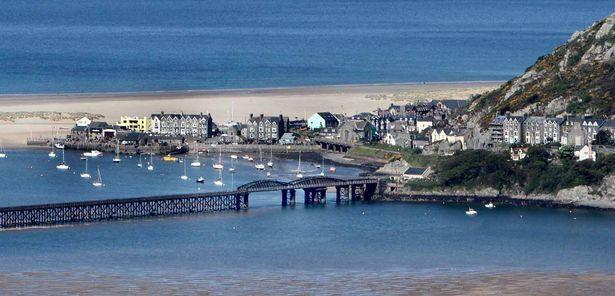 Tragedy: Barmouth beach in North Wales. (Wales News)
