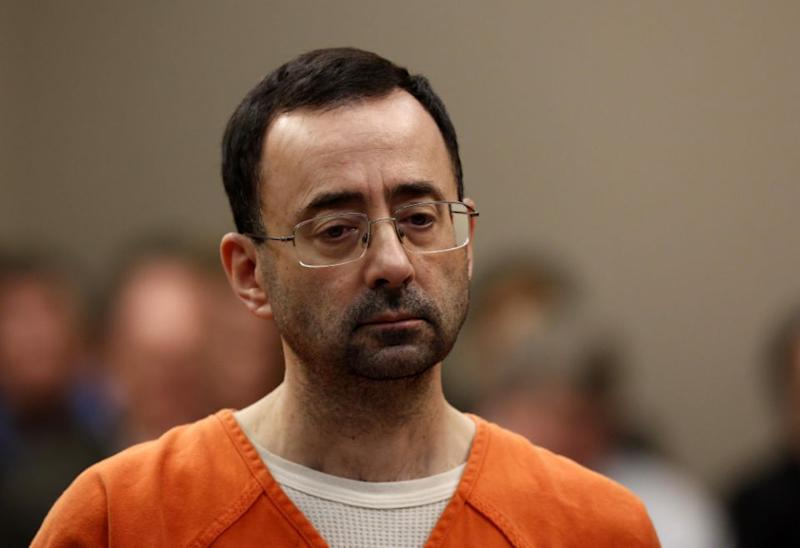 Nassar, 54, is currently in a federal prison outside Tucson, Arizona. Pic: Getty