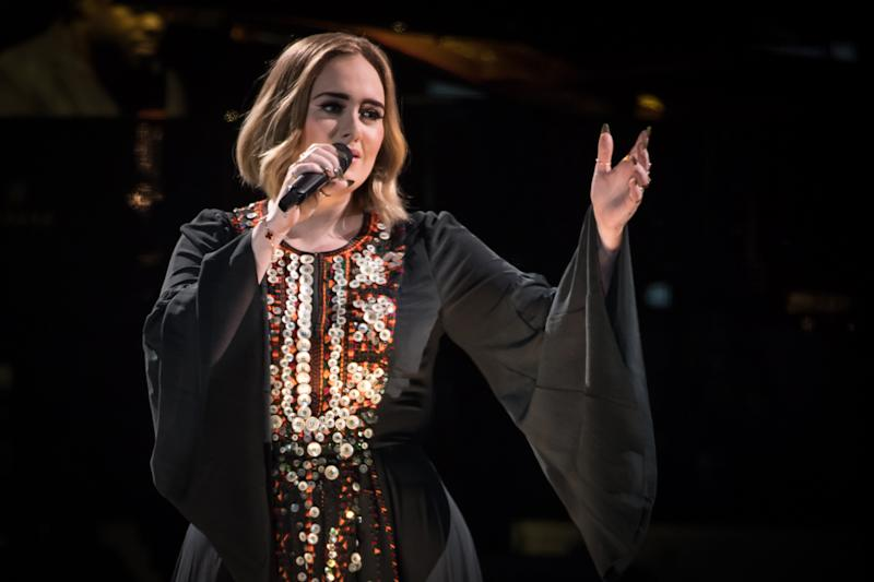 Adele was a Glastonbury headliner in 2016 — a moment the singer relived from her TV screen this weekend. (Photo: Ian Gavan/Getty Images)