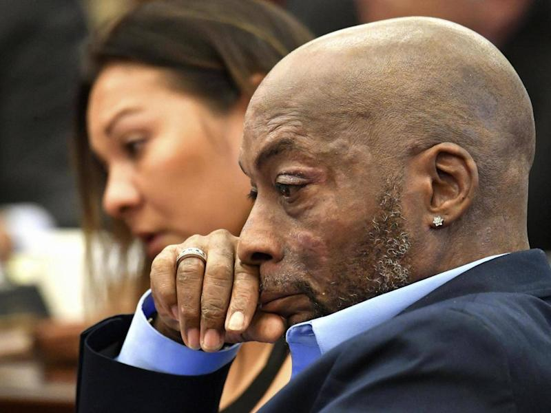 Monsanto was ordered to pay Dewayne Johnson (pictured) $289million in damages for failing to warn the dying groundskeeper that its weedkiller Roundup might cause cancer (AP)