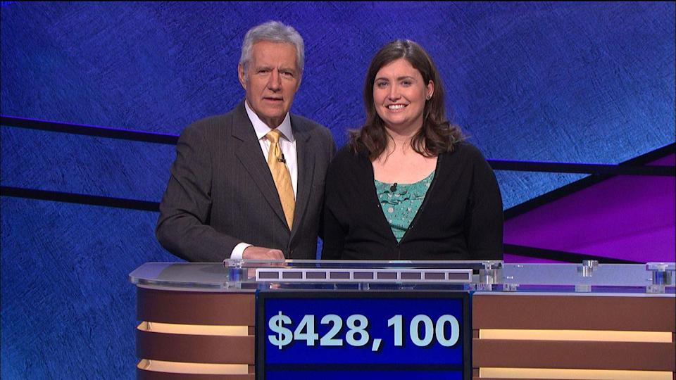 """<p>Julia Collins, a supply chain manager from Illinois, made history in 2014 when she netted $428,100 over the course of 20 consecutive victories. Today, she remains the highest-ranked female contestant of all time. After her historic winning streak, Collins spent part of the windfall on a trip to Paris and London, and used the earnings to pivot to a new career. Collins now runs her own nonprofit, <a href=""""http://www.girlslikeyouandme.com/about"""" rel=""""nofollow noopener"""" target=""""_blank"""" data-ylk=""""slk:Girls Like You and Me"""" class=""""link rapid-noclick-resp"""">Girls Like You and Me</a>, an organization dedicated to """"helping smart girls find careers they love.""""</p>"""