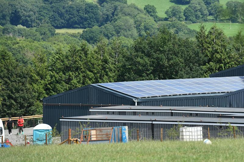 Rook Row Farm in Mathon, near Malvern where there have been 73 positive cases of coronavirus confirmed: PA