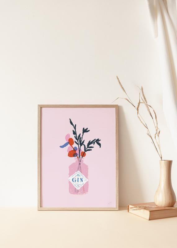 """<p><strong>EmmaMakeStudio</strong></p><p>etsy.com</p><p><strong>$69.37</strong></p><p><a href=""""https://go.redirectingat.com?id=74968X1596630&url=https%3A%2F%2Fwww.etsy.com%2Flisting%2F813256814%2Fgin-poster-bottle-flowers-artwork-a4-a3&sref=https%3A%2F%2Fwww.seventeen.com%2Flife%2Ffriends-family%2Fg30140775%2Fgifts-for-mom-from-daughter%2F"""" rel=""""nofollow noopener"""" target=""""_blank"""" data-ylk=""""slk:Shop Now"""" class=""""link rapid-noclick-resp"""">Shop Now</a></p><p>Ok, let's face it: wfh isn't going anywhere. Level-up her at-home desk with a bright reminder of happy hours to come. </p>"""