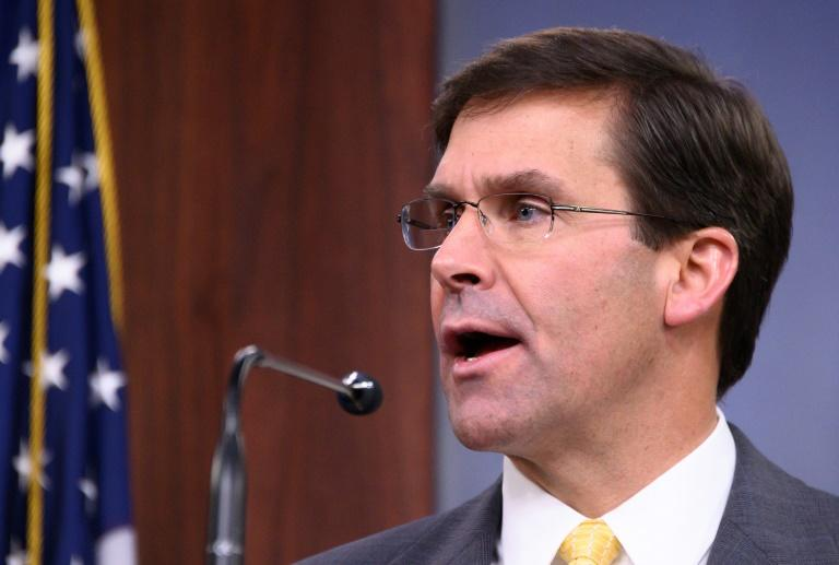 "US Defense Secretary Mark Esper says troops withdrawing from Syria will ""temporarily"" go to Iraq before returning home"