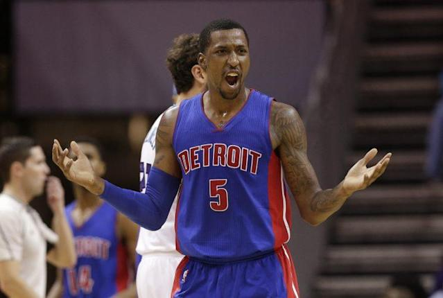 "This is not how <a class=""link rapid-noclick-resp"" href=""/nba/players/5159/"" data-ylk=""slk:Kentavious Caldwell-Pope"">Kentavious Caldwell-Pope</a> expected his summer to go. (AP)"