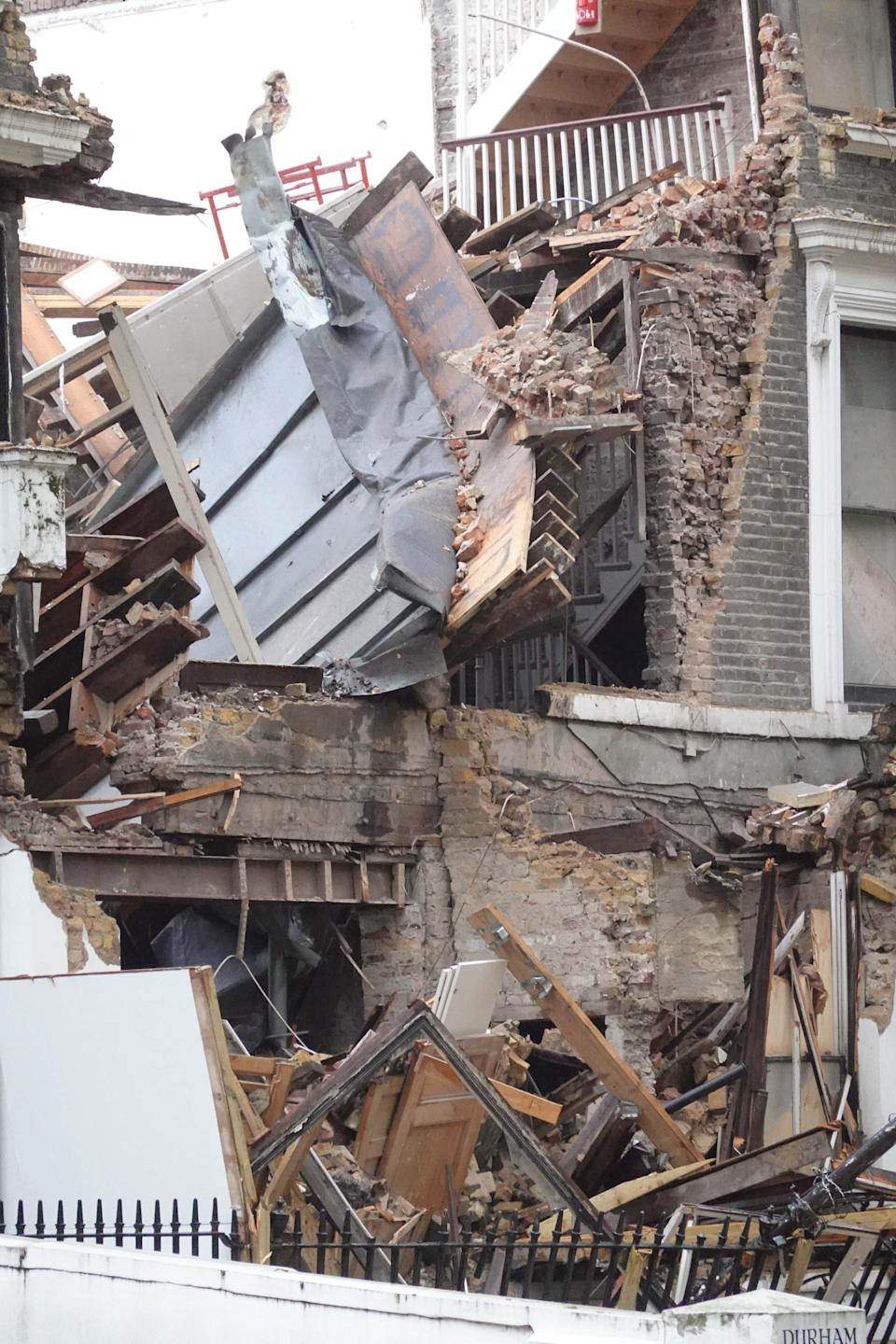 <p>Firefighters said the four-storey properties were under construction</p>Nick Edwards