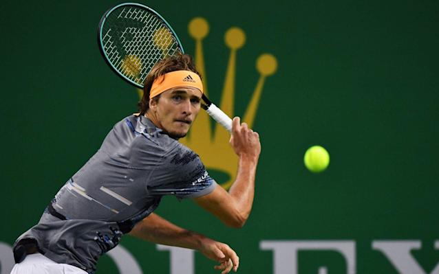 Alexander Zverev, pictured, will face Daniil Medvedev in the Shanghai final: all four of the semi-finalists were 23 or under - AFP