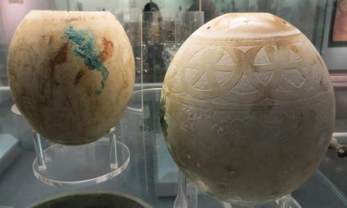 British Museum looks to crack mystery over decorated ostrich eggs