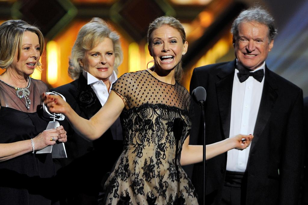 "Diane English, Candice Bergen, Faith Ford, and Charles Kimbrough of ""<a href=""http://tv.yahoo.com/murphy-brown/show/150"">Murphy Brown</a>"" at the 10th Annual TV Land Awards at the Lexington Avenue Armory on April 14, 2012 in New York City."