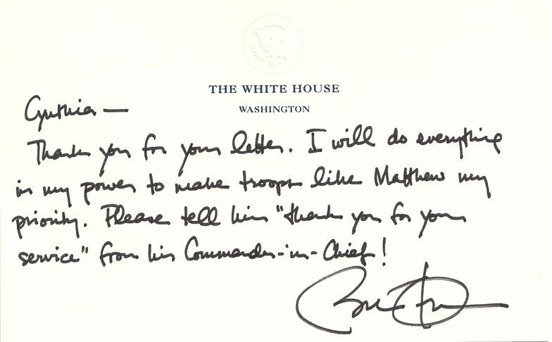 Mother selling letter from Obama to help military son start new life