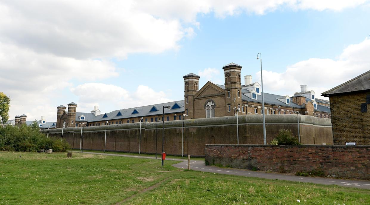 """File photo dated 02/09/14 of a general view of HMP Wormwood Scrubs in Hammersmith, which has been heavily criticised by inspectors after it was found to be unsafe, """"filthy"""" in places and under-resourced."""