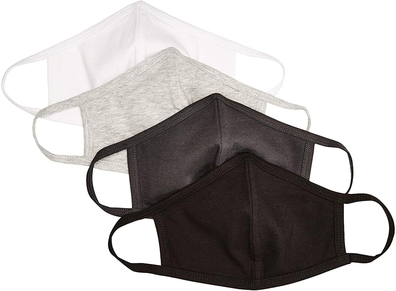 """<p>This <a href=""""https://www.popsugar.com/buy/Quality-Durables-Adults-Kids-4-Pack-Reusable-Face-Covering-582734?p_name=Quality%20Durables%20Adults%20and%20Kids%204-Pack%20Reusable%20Face%20Covering&retailer=amazon.com&pid=582734&price=18&evar1=savvy%3Aus&evar9=47555961&evar98=https%3A%2F%2Fwww.popsugar.com%2Fphoto-gallery%2F47555961%2Fimage%2F47555962%2FQuality-Durables-Adults-Kids-4-Pack-Reusable-Face-Covering&list1=shopping%2Camazon%2Cface%20masks&prop13=api&pdata=1"""" rel=""""nofollow"""" data-shoppable-link=""""1"""" target=""""_blank"""" class=""""ga-track"""" data-ga-category=""""Related"""" data-ga-label=""""https://www.amazon.com/Quality-Durables-Reusable-Covering-Heather/dp/B088BY1GJN/ref=sr_1_6?crid=ALXBXYZ16MR6&amp;dchild=1&amp;keywords=face%2Bmask&amp;qid=1592414687&amp;sprefix=face%2B%2Caps%2C229&amp;sr=8-6&amp;th=1&amp;psc=1"""" data-ga-action=""""In-Line Links"""">Quality Durables Adults and Kids 4-Pack Reusable Face Covering</a> ($18) comes in both adult and kid sizes, which is so awesome.</p>"""