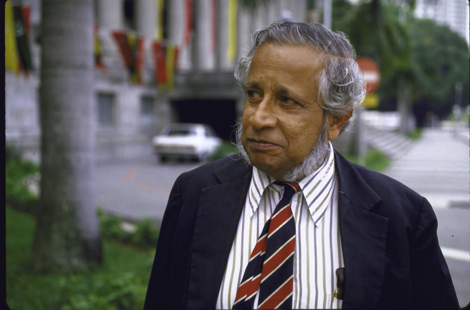 Former opposition MP J. B. Jeyaretnam.