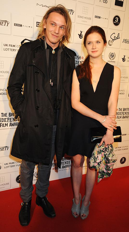 "<a href=""http://movies.yahoo.com/movie/contributor/1809963627"">Jamie Campbell Bower</a> and <a href=""http://movies.yahoo.com/movie/contributor/1808408966"">Bonnie Wright</a> at the 2009 British Independent Film Awards in London - 12/06/2009"