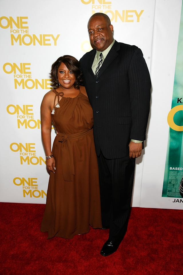 """NEW YORK, NY - JANUARY 24:  Sherri Shepherd and Lamar Sally attend the """"One for the Money"""" premiere at the AMC Loews Lincoln Square on January 24, 2012 in New York City.  (Photo by Andy Kropa/Getty Images)"""