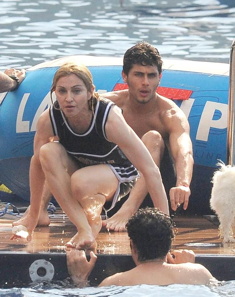 "According to the site Hollyscoop, Madonna and New York Yankees slugger Alex Rodriguez have been ""spending a lot of time"" together again, most recently shacking up for two days in the ballplayer's Miami home, though Madonna's beau Jesus Luz had ""no idea."" Actually, Hollyscoop has no idea. Read <a href=""http://www.gossipcop.com/site-strikes-out-with-madonna-shacking-up-with-alex-rodriguez-in-miami/"" target=""new"">Gossip Cop</a> to see how the website struck out with A-Rod and Madonna. <a href=""http://www.infdaily.com"" target=""new"">INFDaily.com</a> - August 17, 2009"