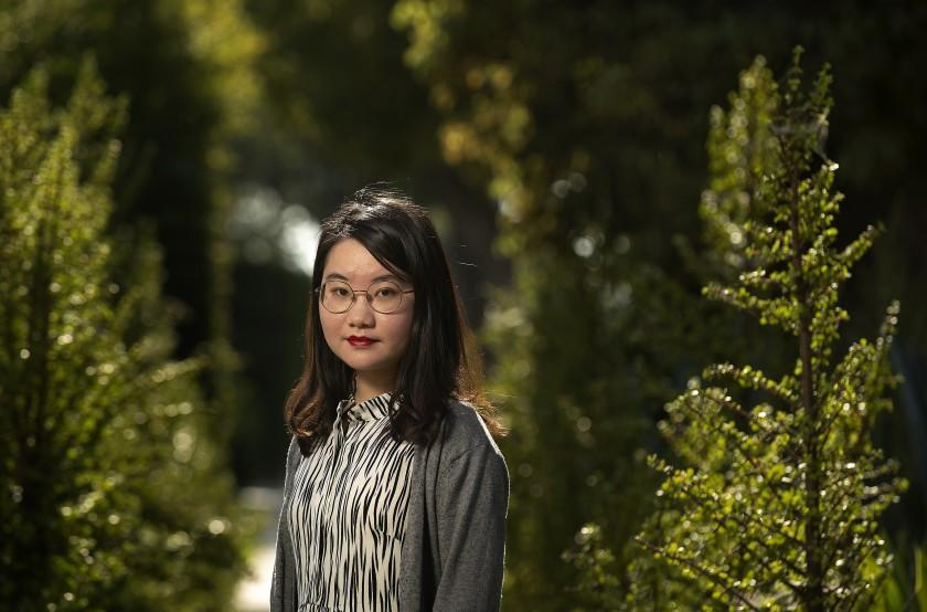 """Xinlu Liang, 22, a Chinese grad student who lost all her money in a telephone scam. <span class=""""copyright"""">(Mel Melcon / Los Angeles Times)</span>"""