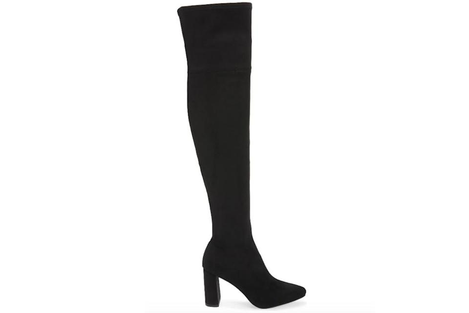 black boots, over the knee, thigh high, jeffrey campbell