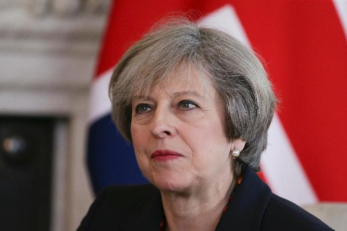British Prime Minister Theresa May has repeatedly said she wants EU workers who are already in Britain to stay, but says she must also secure the rights of 1.2 million British citizens living elsewhere in the EU (AFP Photo/Daniel LEAL-OLIVAS)
