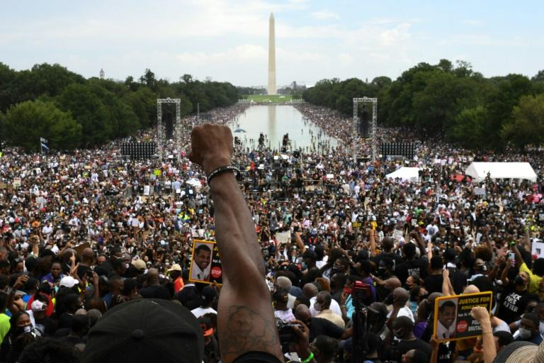 'Say their names!' Anti-racism protesters flood US capital