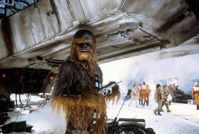 Chewbacca in <em>The Empire Strikes Back</em>. (Photo: Mary Evans/Lucasfilm/Ronald Grant/Everett Collection)