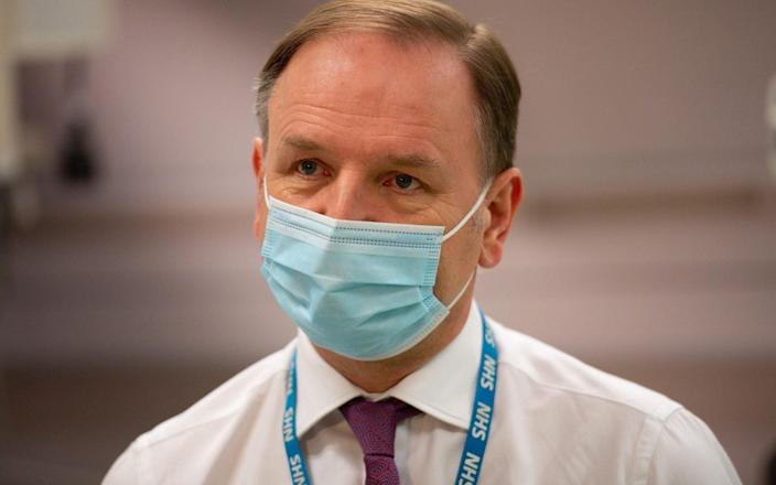 According to reports, Sir Simon Stevens is poised to step down as head of the health service this year - JACOB KING/POOL/AFP via Getty
