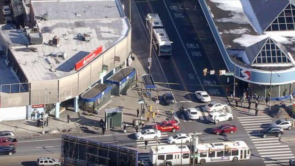 PHOTO: Helicopter video shows the scene where multiple people were shot in the Olney section of Philadelphia, Feb. 17, 2021. (WPVI)