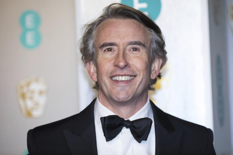 Steve Coogan poses for photographers upon arrival at the BAFTA Film Awards in London, Sunday, Feb. 10, 2019. (Photo by Vianney Le Caer/Invision/AP)