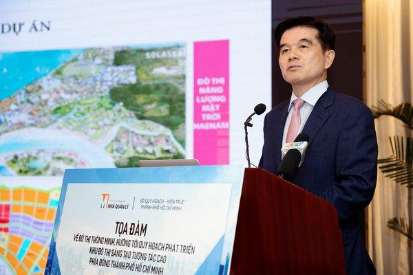 Mr. Lee Gyeong Taek - CEO of Lavi E&C JSC, one of the strategic partners accompanying the Green Economic Institute to implement the smart city project