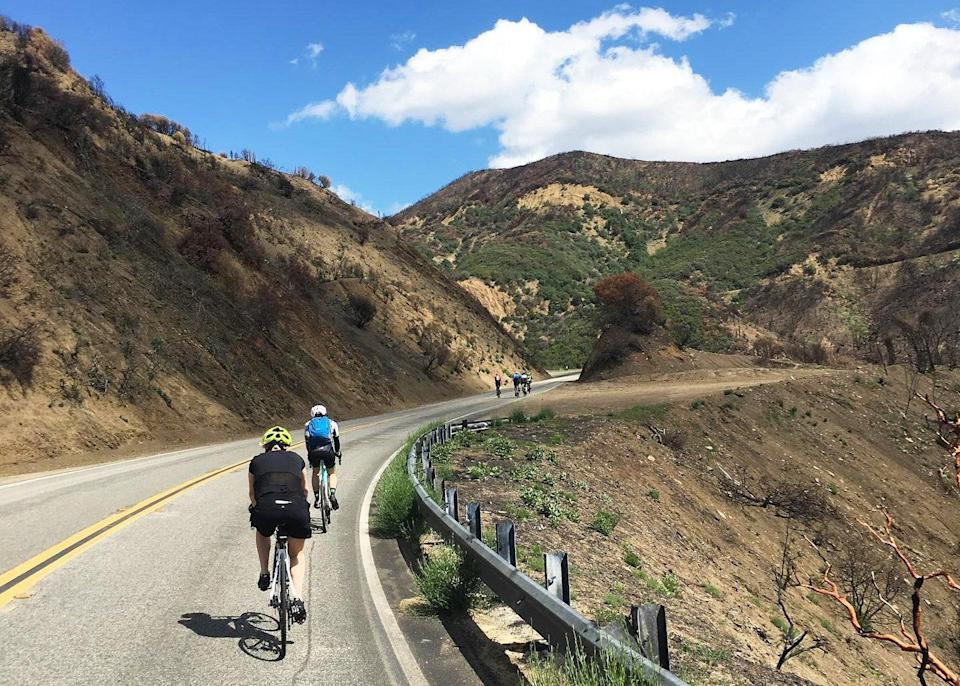 """<p><strong>What's the big picture here?</strong><br> It's an organized <a href=""""https://www.cntraveler.com/story/best-bikes-road-mountain-trail-commuter?mbid=synd_yahoo_rss"""" rel=""""nofollow noopener"""" target=""""_blank"""" data-ylk=""""slk:bike"""" class=""""link rapid-noclick-resp"""">bike</a> tour, but with that personal homespun and local feel that makes Ojai so special.</p> <p><strong>Tell us about your fellow tourees.</strong><br> This is a tour that can be done with a group as small as two, but is definitely for someone who's active and able.</p> <p><strong>How are the guides, then?</strong><br> These are totally geeked out bike people who are really into sharing their local culture via cycling.</p> <p><strong>Anything you'll be remembering weeks or months or years from now?</strong><br> The scent of riding through the pixie orchards in bloom is one you'll want to bottle for years to come.</p> <p><strong>So: Who will like this most?</strong><br> It's great for someone who wants to be active while exploring the local flora and fauna, and burn off all that awesome <a href=""""https://copilot-app.condenast.io/cnt/preview/activity/5a8ed15bc6516a534a530356"""" rel=""""nofollow noopener"""" target=""""_blank"""" data-ylk=""""slk:food and beer"""" class=""""link rapid-noclick-resp"""">food and beer</a> Ojai has to offer.</p>"""