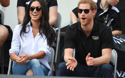 Prince Harry attends the Wheelchair Tennis at the Invictus Game - Credit: James Whatling