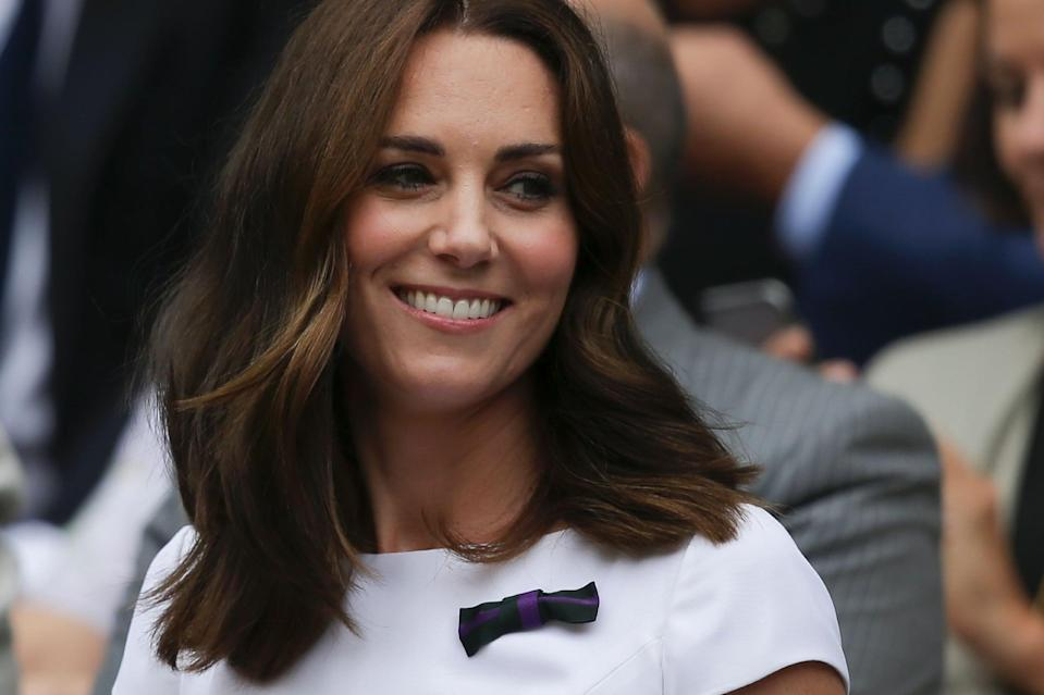 "<p>A trip to Wimbledon in 2017 was a great excuse for the duchess to <a href=""https://www.popsugar.com/beauty/Kate-Middleton-Short-Hair-2017-43703139"" class=""link rapid-noclick-resp"" rel=""nofollow noopener"" target=""_blank"" data-ylk=""slk:debut a new shorter hair"">debut a new shorter hair</a>. The shoulder-length style featured less layers than we're used to seeing from Middleton and straighter ends, creating the illusion of even thicker hair (which on Kate, we didn't think was possible). </p>"