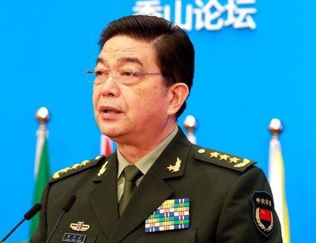 Chinese Defence Minister Chang Wanquan speaks at the Xiangshan Forum, in Beijing