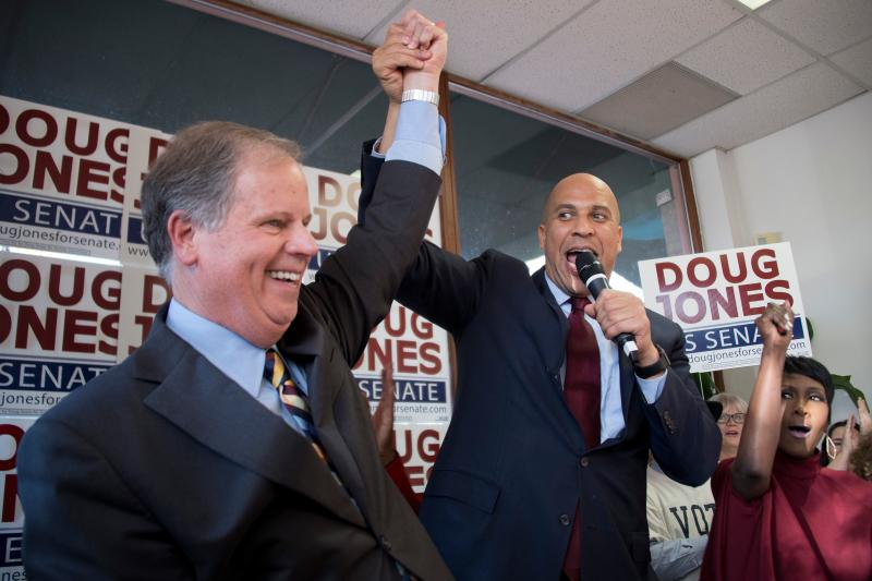 Cory Booker with Doug Jones
