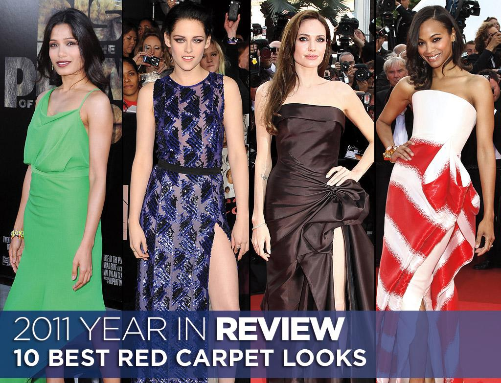 "From Angelina Jolie to Zoe Saldana, these ladies put the ""A"" in A-list with these looks that dazzled us on the red carpet this year. Click ahead to see our favorite looks from 2011."