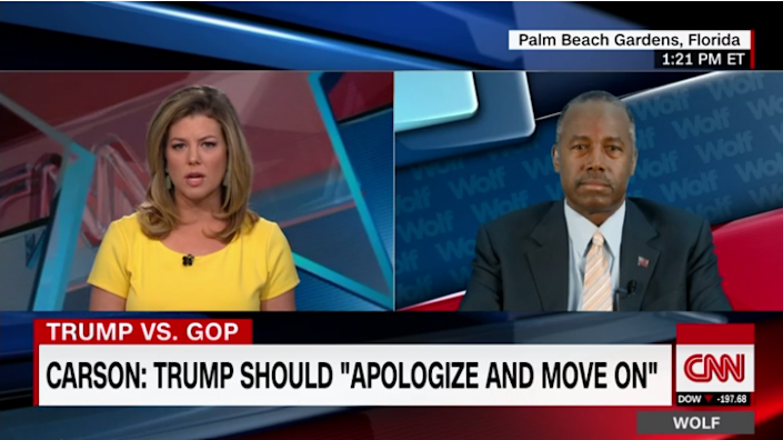Ben Carson tells CNN's Brianna Keilar that he's heard plenty of people make comments like those heard in a recently released recording of Republican presidential nominee Donald Trump from 2005. (Screenshot via CNN.com)