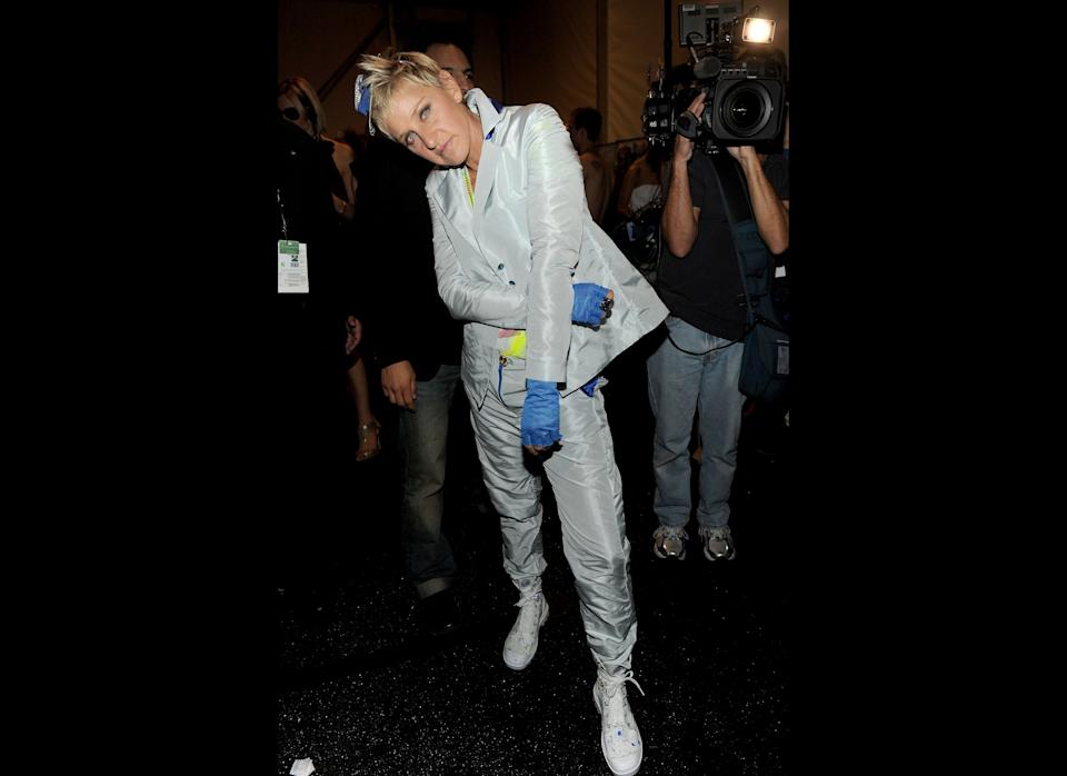 Comedian, talk show host and model? Ellen rocked it at the Richie Rich Spring 2011 fashion show.