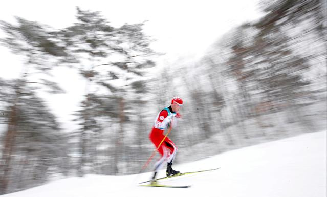 Biathlon - Pyeongchang 2018 Winter Paralympics - Men's 15km - Standing - Alpensia Biathlon Centre - Pyeongchang, South Korea - March 16, 2018 - Mark Arendz of Canada competes. REUTERS/Carl Recine TPX IMAGES OF THE DAY