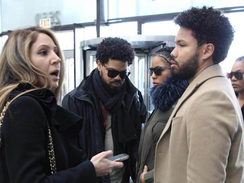 Jussie Smolletts Family Arrives At Court To Support Actor For Bail