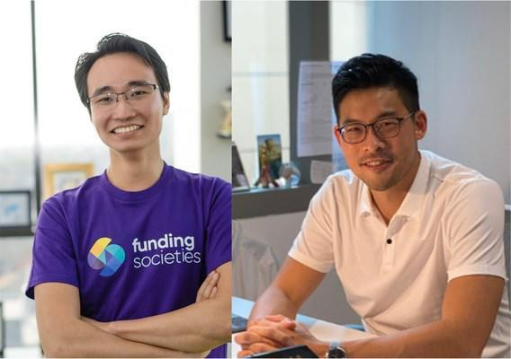 From left to right: Kelvin Teo, group co-founder and CEO, Funding Societies    Modalku;  David Z. Wang, co-founder and CEO, Helicap Pte.  Ltd.