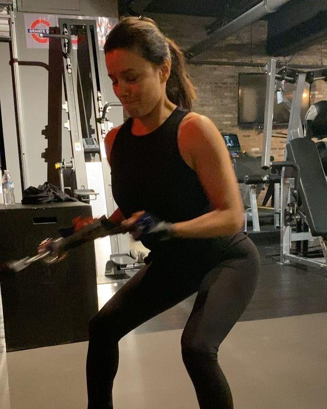 "<p>If you have access to a gym (at home or otherwise) cable machines are a great alternative to free weights for <a href=""https://www.womenshealthmag.com/uk/fitness/strength-training/a36107039/resistance-training/"" rel=""nofollow noopener"" target=""_blank"" data-ylk=""slk:resistance training"" class=""link rapid-noclick-resp"">resistance training</a>. Here, Eva uses one to do cable squat rows, a compound movement that's getting her whole body working. She makes this exercise look easy, but this move is a major workout for your back, arms, core, and legs. </p><p><strong>RELATED: </strong><a href=""https://www.womenshealthmag.com/uk/fitness/strength-training/a36107039/resistance-training/"" rel=""nofollow noopener"" target=""_blank"" data-ylk=""slk:Everything You Need to Know About Resistance Training: A Back to Basics Guide"" class=""link rapid-noclick-resp"">Everything You Need to Know About Resistance Training: A Back to Basics Guide</a></p><p><a href=""https://www.instagram.com/p/B7Y0CueJlLY/?utm_source=ig_embed&utm_campaign=loading"" rel=""nofollow noopener"" target=""_blank"" data-ylk=""slk:See the original post on Instagram"" class=""link rapid-noclick-resp"">See the original post on Instagram</a></p>"