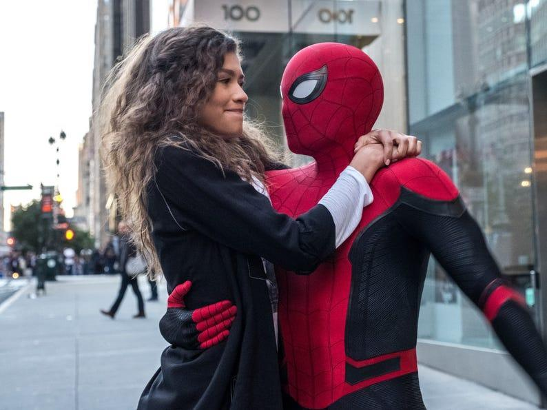 spider man far from home mj peter parker