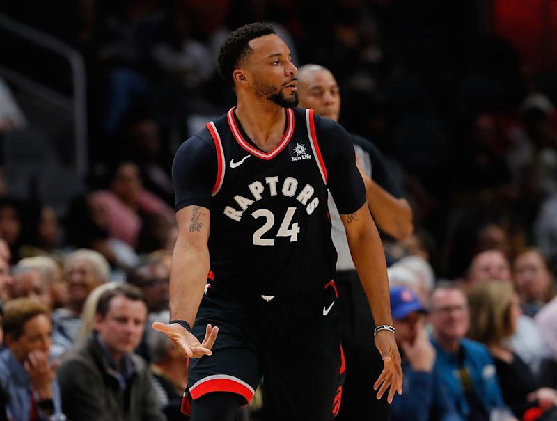 Toronto Raptors guard Norman Powell bought his mother a brand-new Range Rover for her birthday. (Photo by Kevin C. Cox/Getty Images)