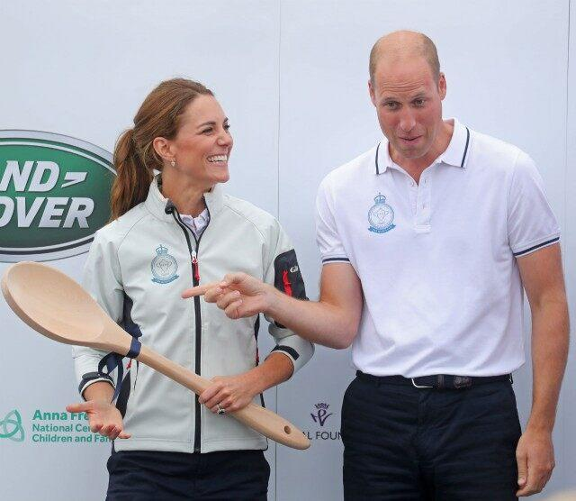 GREAT PICS William and Kate in sailing regatta as kids watch on