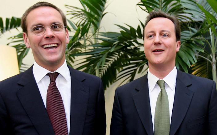James Murdoch (left) with David Cameron - Stephen Lock