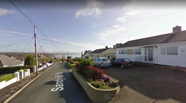 The woman and her daughter were found at a property in Sandy Hill Road, Saundersfoot, Pembrokeshire (Picture: Google Maps)