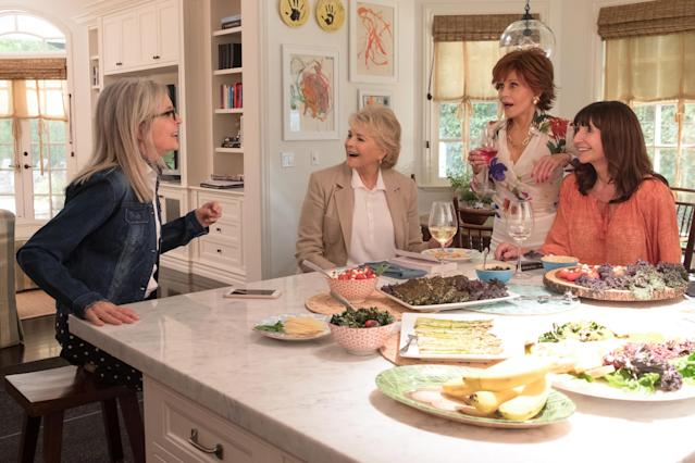 From left: Diane Keaton, Candice Bergen, Jane Fonda, and Mary Steenburgen in the film <em>Book Club.</em> (Photo: Paramount Pictures)