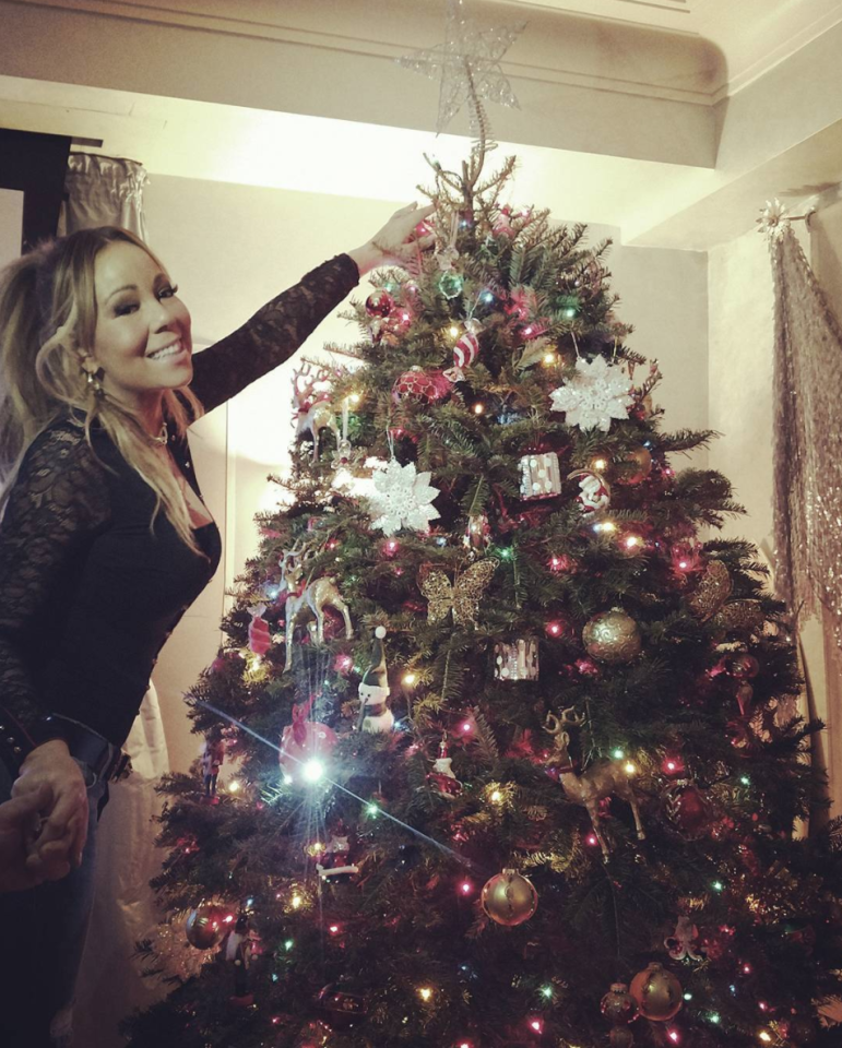 "<p>The songstress showed off on Instagram the blinged-out tree that she <a rel=""nofollow"" href=""https://www.instagram.com/p/BcRCc03nbwY/?hl=en&taken-by=mariahcarey"">picked out with her twins</a>, Moroccan and Monroe. No audio accompanied the photo, but it's easy to imagine that ""All I Want for Christmas Is You"" is blasting in the background. (Photo: <a rel=""nofollow"" href=""https://www.instagram.com/p/BcRRPXrn6Dd/?hl=en&taken-by=mariahcarey"">Mariah Carey via Instagram</a>) </p>"