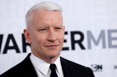 CNN anchor Anderson Cooper poses as he arrives at the WarnerMedia Upfront event in New York
